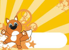 Fox cartoon background Royalty Free Stock Photos