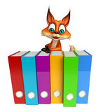 Fox cartoon character with file Stock Photos