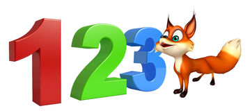 Fox cartoon character with 123 sign. 3d rendered illustration of Fox cartoon character with 123 sign vector illustration