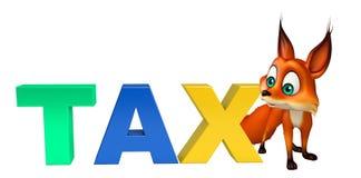Fox cartoon character with tax Stock Image