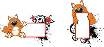 Fox cartoon copyspace2. Fox cartoon copyspace in format very easy to edit royalty free illustration