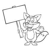 Fox cartoon Royalty Free Stock Photography