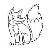 Fox coloring book. Stock Image