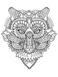 Fox coloring book vector illustration Royalty Free Stock Photos