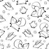 Fox, conejo, modelo inconsútil del pollo Ilustración del vector foto de archivo libre de regalías
