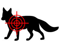 Fox crosshair Royalty Free Stock Photography