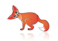 Fox cub. Cute illustration of funny babyish fox royalty free illustration