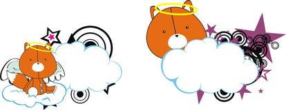 Fox cute baby plush angel cartoon cloud Stock Photography