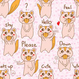 Fox cute small seamless pattern Royalty Free Stock Photo