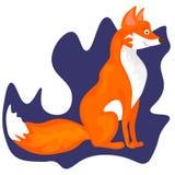 Fox da Web - ilustração e cartão bonitos ilustração royalty free