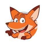 Fox dans le cadre rond illustration libre de droits