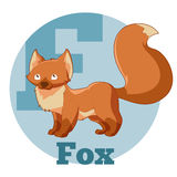 Fox de bande dessinée d'ABC illustration stock