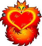 Fox de la tarjeta del día de San Valentín Fotos de archivo