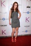 Fox de Nicole aux chéris dans le lecteur 2011, colonie, Hollywood, CA 12-02-11 de jouet de charité de Toyland Photographie stock libre de droits