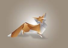 Fox de papel da arte Imagens de Stock