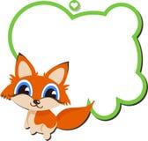 Fox del bebé con el espacio para su mensaje Imágenes de archivo libres de regalías