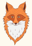 Fox del ritratto di vettore Fotografie Stock Libere da Diritti