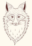 Fox del ritratto di vettore Fotografia Stock