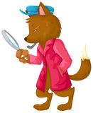 Fox detective Royalty Free Stock Image
