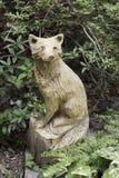 Fox di legno scolpito immagine stock