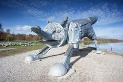 Fox do ferro, Siauliai, Lituânia Imagens de Stock