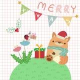 Fox do Natal ilustração do vetor
