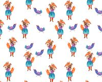 Fox-Druckaquarell lizenzfreies stockfoto