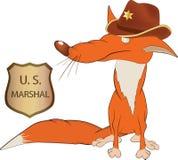 Fox el sheriff Imagen de archivo libre de regalías