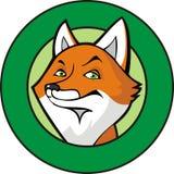 Fox em um frame ilustração royalty free
