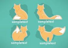 Fox emblems Stock Photo