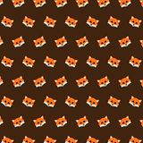 Fox - emoji pattern 01. Pattern of a emoji fox that can be used as a background, texture, prints or something else vector illustration