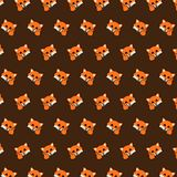 Fox - emoji pattern 06 vector illustration