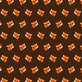 Fox - emoji pattern 10 vector illustration