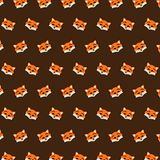 Fox - emoji pattern 29. Pattern of a emoji fox that can be used as a background, texture, prints or something else stock illustration