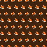 Fox - emoji pattern 32. Pattern of a emoji fox that can be used as a background, texture, prints or something else stock illustration