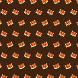 Fox - emoji pattern 33. Pattern of a emoji fox that can be used as a background, texture, prints or something else stock illustration