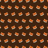 Fox - emoji pattern 35. Pattern of a emoji fox that can be used as a background, texture, prints or something else vector illustration