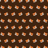 Fox - emoji pattern 37. Pattern of a emoji fox that can be used as a background, texture, prints or something else royalty free illustration