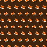 Fox - emoji pattern 39. Pattern of a emoji fox that can be used as a background, texture, prints or something else stock illustration
