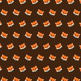 Fox - emoji pattern 19. Pattern of a emoji fox that can be used as a background, texture, prints or something else vector illustration