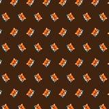 Fox - emoji pattern 05 stock illustration
