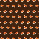 Fox - emoji pattern 23. Pattern of a emoji fox that can be used as a background, texture, prints or something else royalty free illustration