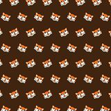 Fox - emoji pattern 26. Pattern of a emoji fox that can be used as a background, texture, prints or something else vector illustration