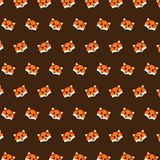 Fox - emoji pattern 28. Pattern of a emoji fox that can be used as a background, texture, prints or something else vector illustration