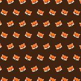 Fox - emoji pattern 34. Pattern of a emoji fox that can be used as a background, texture, prints or something else vector illustration
