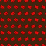 Fox - emoji pattern 65. Pattern of a emoji fox that can be used as a background, texture, prints or something else royalty free illustration