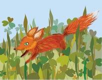Fox en la hierba ilustración del vector