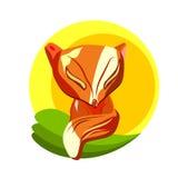 Fox en la hierba Fotos de archivo