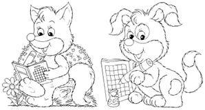 Fox et chiot Photographie stock
