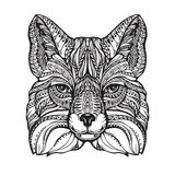 Fox ethnic graphic style with decorative ornaments and patterns. Vector illustration Stock Image
